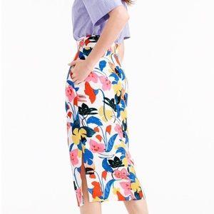 J Crew Floral Skirt